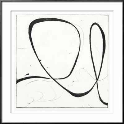 "BIG SWIRL 2 - 30"" x 30"" Print - RONDA Black - art.com"