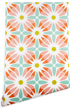 CRAZY DAISY SORBET Wallpaper - Wander Print Co.