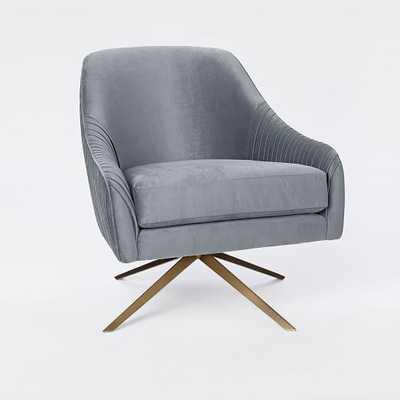 Roar + Rabbit™ Swivel Chair - Steel Blue - West Elm