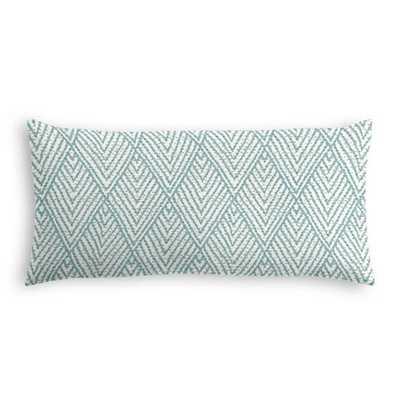 Tribal Blue Diamond Lumbar Pillow - No insert - Loom Decor