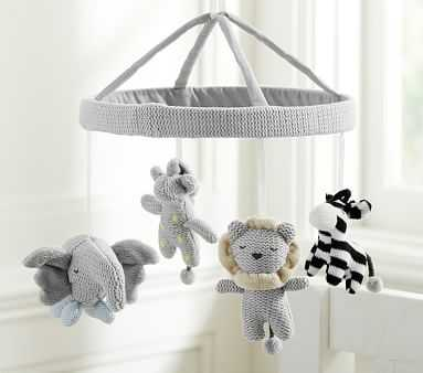 Knit Animal Crib Mobile - Pottery Barn Kids