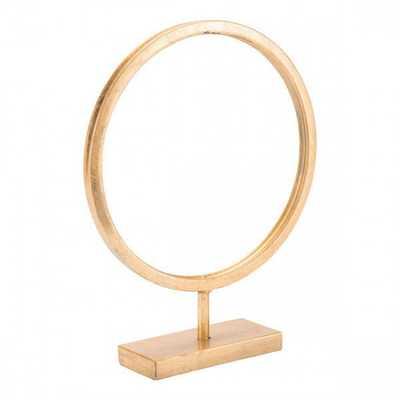 Circle Figurine Sm Gold - Zuri Studios