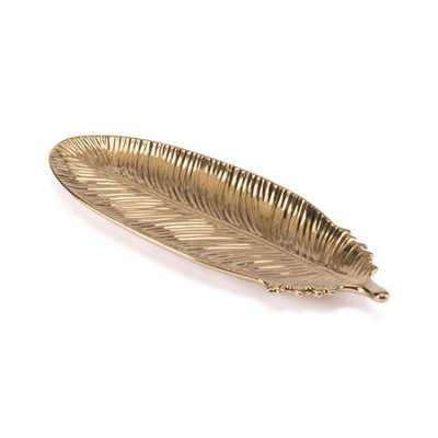 Gold Feather Sm Gold - Zuri Studios