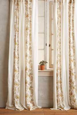 Scrolled Quills Curtain - Anthropologie