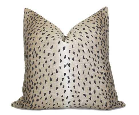 Antelope Pillow Cover - Black Fawn Linen - Willa Skye