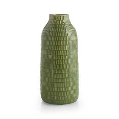 "Verde 11.5"" Green Vase - Crate and Barrel"