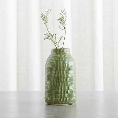 "Verde 8"" Green Vase - Crate and Barrel"
