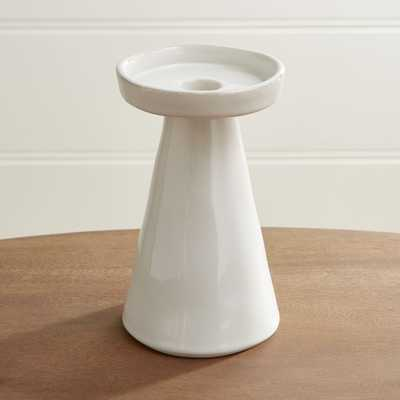 Marin White Large Taper/Pillar Candle Holder - Crate and Barrel