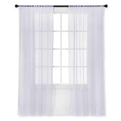 Snow White Sheer Curtain Panel Crinkle - Room Essentials™ - Target