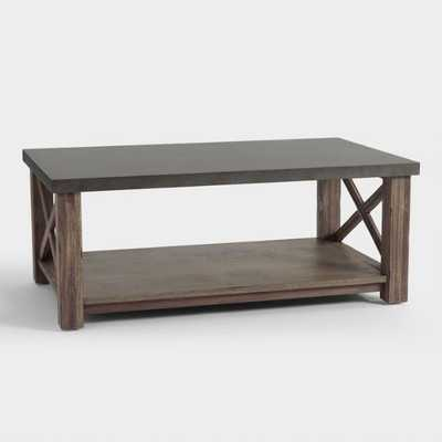 Wood Farmhouse Duncan Coffee Table: Brown/Gray by World Market - World Market/Cost Plus