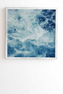 "Sea Wall Art - 12""x12"" Framed White, no Mat - Wander Print Co."
