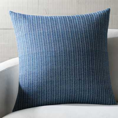 """Liano 23"""" Dark Blue Pillow with Feather-Down Insert - Crate and Barrel"""