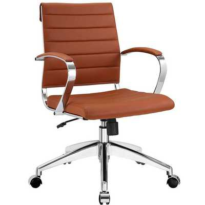 JIVE MID BACK OFFICE CHAIR IN TERRACOTTA - Modway Furniture