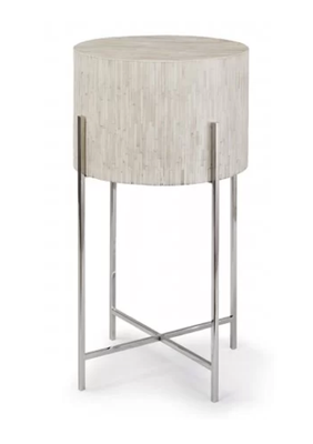 Polished Nickel Bone Drum Table - Perigold