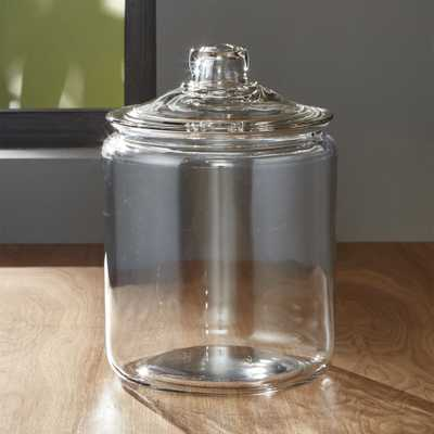 Heritage Hill 128 oz. Glass Jar with Lid - Crate and Barrel