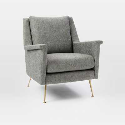 Carlo Mid-Century Chair, Twill, Granite - West Elm