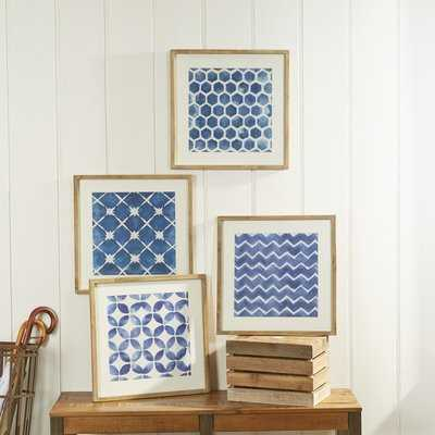 Framed Blue Geometric Prints - Wayfair