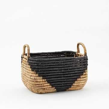 "Two-Tone Seagrass Baskets, Small Rectangle, 8"" - West Elm"