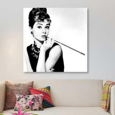 Radio Days 'Breakfast at Tiffany's Series: Audrey Hepburn Smoking' Photographic Print on Canvas - Wayfair