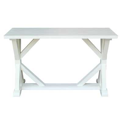 Modern Farmhouse Distressed Seashell Console Table - Home Depot