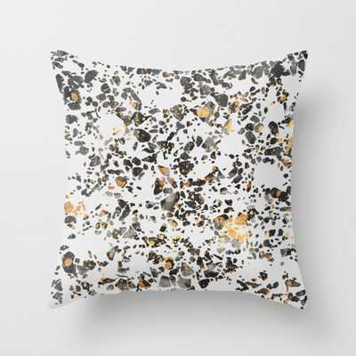 """Gold Speckled Terrazzo Throw Pillow - Outdoor Cover (20"""" x 20"""") with pillow insert by Elisabethfredriksson - Society6"""