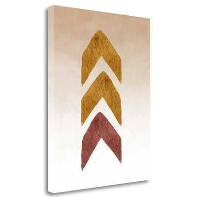 'Tribal Arrows in Gold and Maroon' Graphic Art Print on Wrapped Canvas - Wayfair