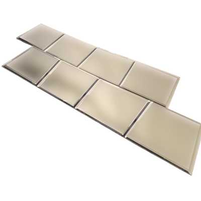 ABOLOS Echo 8 in. x 8 in. Matte Glass Mirror Peel and Stick Tile (4.4 sq. ft. / pack), Matte Gold - Home Depot