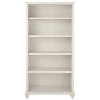 Hamilton 5-Shelf Polar White Open Bookcase - Home Depot