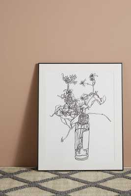 Flowers in a Capers Jar Wall Art - Anthropologie