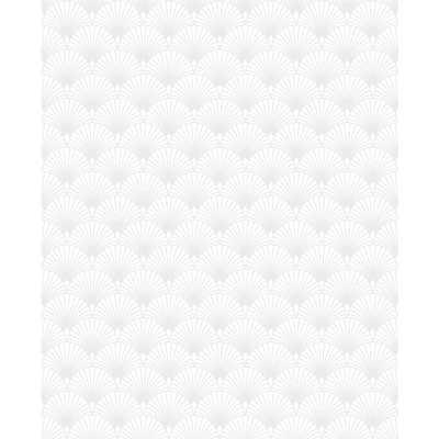 Superfresco Easy Kabuki Ecailles Gatsby White Removable Wallpaper - Home Depot