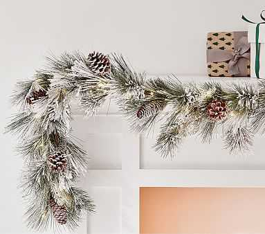 Frosted Pine Cone Garland - Pottery Barn Kids