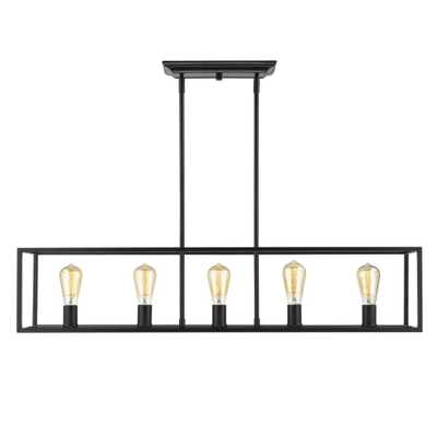 Golden Lighting Wesson 5-Light Black Chandelier - Home Depot