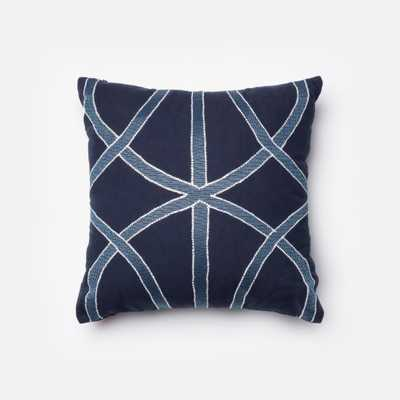 """PILLOWS - NAVY / BLUE - 18"""" X 18"""" Cover Only - Loma Threads"""