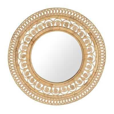 Peacock Round Decorative Accent Mirror - Wayfair