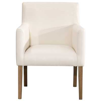Cream (Ivory) Faux Leather Lexington Dining Chair - Home Depot