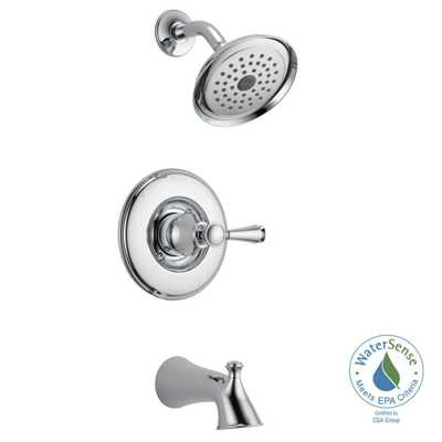 Delta Silverton Single-Handle 1-Spray Tub and Shower Faucet in Chrome (Grey) (Valve Included) - Home Depot