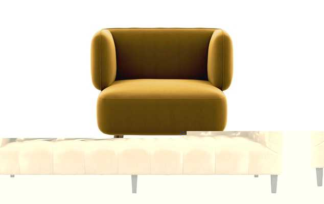 Parker Chairs with Slipper Chairs with Citrine Fabric and White Oak legs - Interior Define