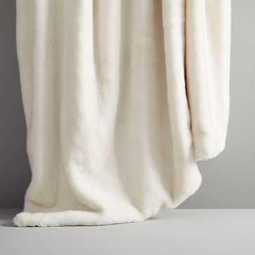 """Faux Fur Arctic Throw, White, 50""""x70"""" - West Elm"""
