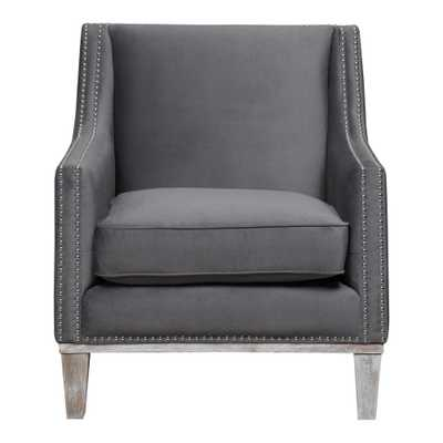 Element International Aster Charcoal (Grey) Accent Chair - Home Depot