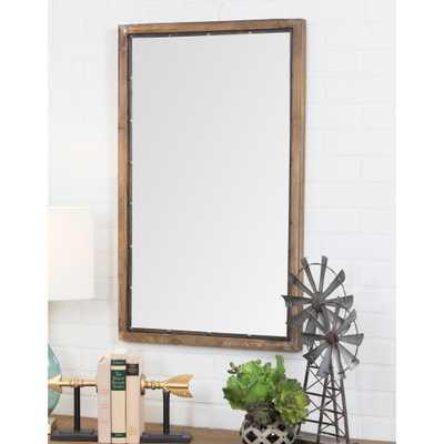 Marlon Rustic Wood Wall Mirror - Home Depot