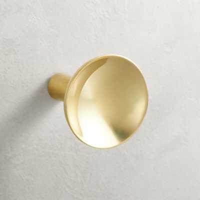 Quincy Brass Concave Knob - CB2