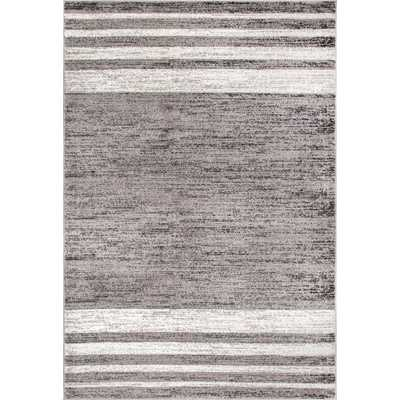 nuLOOM Vintage Striped Lila Gray 7 ft. 6 in. x 9 ft. 6 in. Area Rug - Home Depot