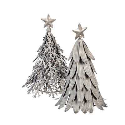 2 Piece Metal Christmas Tree Set - Birch Lane