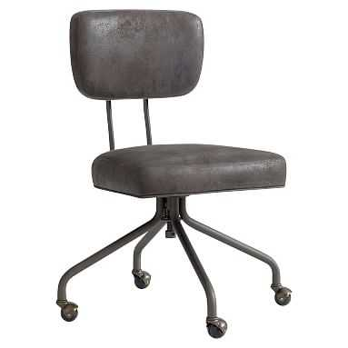 Architect's Task Chair, Trailblazer Charcoal - Pottery Barn Teen