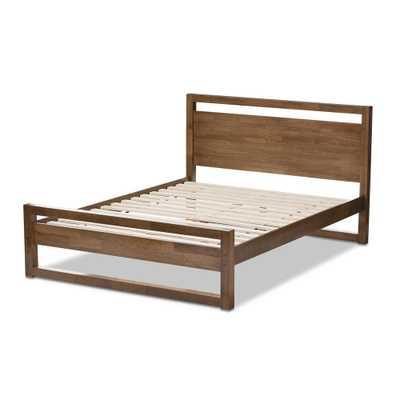 Torino Medium Brown Wood King Platform Bed - Home Depot
