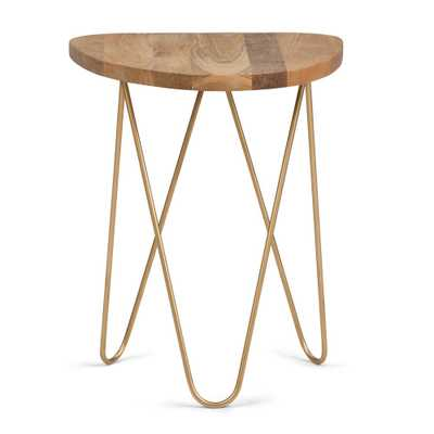 Patrice Natural and Gold Metal/Wood Accent Table - Home Depot