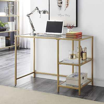 Ivy Bronx Beamer Computer Desk: Gold - eBay