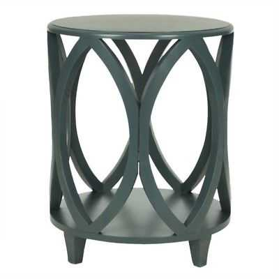 Hawthorne Collection Pine Wood Accent Table in Dark Teal - eBay