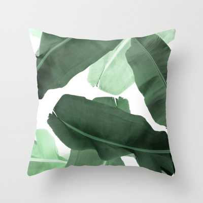 "Green Banana Leaf Throw Pillow - Outdoor Cover (16"" x 16"") with pillow insert by Printsproject - Society6"