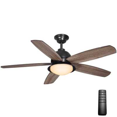 Home Decorators Collection Ackerly 52 in. LED Indoor/Outdoor Natural Iron Ceiling Fan with Light Kit and Remote Control - Home Depot
